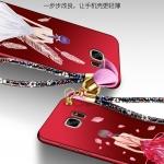 เคส Samsung S7 Edge พลาสติกลายผู้หญิงแสนสวย พร้อมที่คล้องมือ สวยมากๆ ราคาถูก