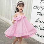 ชุดกระโปรง สีชมพู แพ็ค 5 ชุด ไซส์ 120-130-140-150-160 (เลือกไซส์ได้)