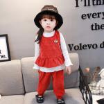 เสื้อตัวนอก+เสื้อตัวใน+กางเกง สีแดง แพ็ค 4 ชุด ไซส์ 70-80-90-100