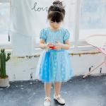 ชุดเจ้าหญิง สีฟ้า เกล็ดหิมะ แพ็ค 5ชุด ไซส์ 90-100-110-120-130 (เลือกไซส์ได้)