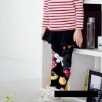 กางเกงเลคกิ้งกระโปรงสีดำลายมิกกี้มินนี่ [size 2y-4y-6y]