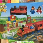ตัวต่อชุดรถไฟ วิ่งได้ มีลาน 85 ซม. # 8803 มี 47 ชิ้น