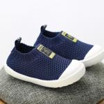 รองเท้าผ้าใบเด็ก สีกรม แพ็ค 6 คู่ ไซส์ 23-24-25-26-27-28