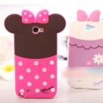Case Samsung Galaxy Note 2 เคสซิลิโคน 3D การ์ตูนดิสนีย์ Disney 86hero Sulley Minnie Mickey Alien Mike Pooh Donald Daisy เคสมือถือราคาถูกขายปลีกขายส่ง