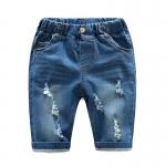 กางเกงยีนส์เด็กสีอ่อนแต่งรอยข่วน [size 2y-3y-4y-5y-6y]