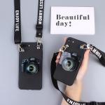 เคส OPPO A71 พลาสติกประดับลายกล้อง สามารถยืดไว้ตั้งหรือเก็บสายหูฟังได้ พร้อมสายคล้องคอ ราคาถูก