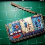 กระเป๋าใบยาว ผ้าอเมริกา- สั่งทำ