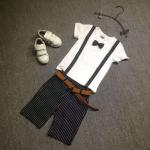 เสื้อ+กางเกง เสื้อสีขาว แพ็ค 3 ชุด ไซส์ 120-130-140 (เลือกไซส์ได้)