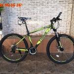 จักรยานเสือภูเขา TRINX M136 26 นิ้ว เกียร์ 21 สปีด โช้คหน้า เฟรมอลูมิเนียม 2017