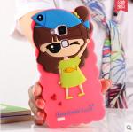 Case Huawei Mate 7 ซิลิโคน 3D สามมิติเด็กผู้หญิงน่ารักสดใสสวมหมวกปลาน้อยน่ารักๆ ราคาส่ง ราคาถูก ราคาปลีก