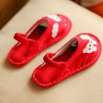 รองเท้าเด็กแฟชั่น สีแดง แพ็ค 5 คู่ ไซส์ 26-27-28-29-30