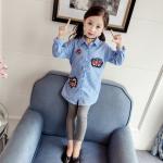 เสื้อ สีฟ้า แพ็ค 5ชุด ไซส์ 100-110-120-130-140
