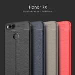 เคส Huawei Honor 7X ซิลิโคน TPU ผิวกันลื่นสีพิ้นสวยงามมาก ราคาถูก