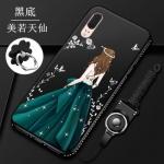 เคส Huawei P20 ซิลิโคนลายผู้หญิงแสนสวยมากๆ ราคาถูก (สีของสายคล้องแล้วแต่ร้านจีนแถมมา)