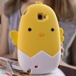 เคส note 2 case samsung note 2 เคสซิลิโคน 3D ลูกเจี๊ยบตัวน้อยออกมาจากไข่ (ยักษ์) น่ารักฝุดๆ เคสมือถือราคาถูกขายปลีกขายส่ง