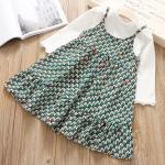 เสื้อ+ชุดกระโปรง สีเขียว แพ็ค 5 ชุด ไซส์ 5-7-9-11-13