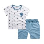 ชุดเซตเสื้อลายต้นไม้สีฟ้า+กางเกงสีฟ้า [size 6m-1y-2y-3y]