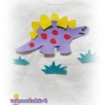 เสื้อยืดเด็ก ลายไดโนเสาร์สีม่วง Size M