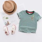 เสื้อยืดลายขวางสีเขียว [size 2y-3y-4y-5y-6y]