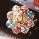 ปุ่มโฮม ipad iphone ปุ่มเพชรหรูหราไฮโซ เป็นประกายวิ๊บวั๊บ สวยสุดอลัง Tidal influx of new luxury metal diamond home button stickers