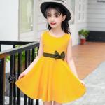ชุดกระโปรง สีเหลือง แพ็ค 5 ชุด ไซส์ 120-130-140-150-160