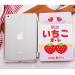 เคส iPad mini 3/2/1 แบบฝาพับสกรีนลายนมสตอเบอร์รี่น่ารักน่ากินมากๆ ราคาถูก