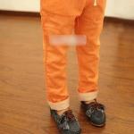 กางเกง สีส้ม แพ็ค 5 ชุด ไซส์ 100-110-120-130-140 (เลือกไซส์ได้)