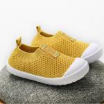 รองเท้าผ้าใบเด็ก สีเหลือง แพ็ค 6 คู่ ไซส์ 23-24-25-26-27-28