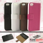 case iphone 5 เคสไอโฟน5 เคสหนังงฝาพับข้างลายตารางเล็กสวยๆ เท่ๆ Business Rich Boss