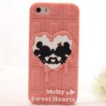 case iphone 5 / 5s เคสช็อคโกแลตมิกกี้เม้าส์ มินนี้เม้าส์ Melty Sweet Hearts น่ารักๆ ราคาส่ง ขายถูกสุดๆ