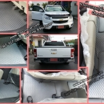 ยางปูพื้นรถยนต์เข้ารูป ราคาถูก Chevrolet Colorado 4ประตู ลายกระดุมสีเทาขอบเทา