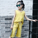 เสื้อ+กางเกง สีเหลือง แพ็ค 5 ชุด ไซส์ 120-130-140-150-160 (เลือกไซส์ได้)