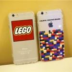 เคส iPhone 6s Plus / 6 Plus (5.5 นิ้ว) อคริลิคโปร่งใสสกรีนลายตัวต่อเลโก้ น่ารักมากๆ ราคาถูก