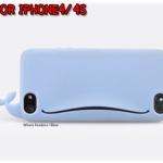 case iphone 4/4s เคสไอโฟน4/4s เคสซิลิโคนทรงปลาวาฬน่ารักสุดๆ