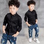 เสื้อ สีดำ แพ็ค 3 ชุด ไซส์ 120-130-140 (เลือกไซส์ได้)