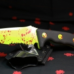 Microtech Currahee SE, Zombie Green Handle, ComboEdge 102-2Z