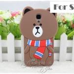 เคสซัมซุงเอส4 Case Samsung Galaxy S4 i9500 เคสซิลิโคน 3D sticker line น่ารักๆ เคสมือถือ ราคาถูก ขายส่ง
