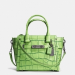Preorder COACH Swagger 21 In Contrast Exotic Embossed Leather Style No: 37698
