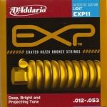 สายกีตาร์โปร่ง D'Addario EXP11 Coated 80/20 Bronze, Light, 12-53
