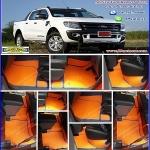 ผลิตและจำหน่ายพรมปูพื้นรถยนต์เข้ารูป Ford Ranger 4ประตู ลายกระดุมสีส้มขอบฟ้า