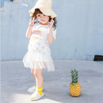 เดรส+ลูกไม้ สีขาว แพ็ค 5ชุด ไซส์ 80cm-90cm-100cm-110cm-120cm