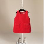 ชุดกระโปรง สีแดง แพค 6ตัว ไซส์ 80-90-100-110-120-130