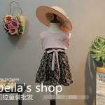 เสื้อ+กระโปรง สีชมพู แพ็ค 5ชุด ไซส์ 100-110-120-130-140