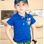 เสื้อ สีน้ำเงิน แพค 5 ตัว ไซส์ 100-110-120-130-140