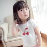 เสื้อลายเชอร์รี่ สีขาว แพ็ค 5 ชุด ไซส์ 90-100-110-120-130