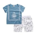 ชุดเซตเสื้อสีฟ้าลายสมอเรือ+กางเกงสีขาว [size 6m-1y-18m-2y-3y]