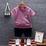 เสื้อ+กางเกง สีม่วงแพ็ค 4 ชุด ไซส์ 80-90-100-110