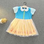 ชุดเจ้าหญิง สีฟ้า+เหลือง แพ็ค 5ชุด ไซส์ 90-100-110-120-130 (เลือกไซส์ได้)