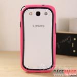 Case S3 Case Samsung Galaxy S3 i9300 ขอบเคส Bumper ซิลิโคนหนานุ่ม 2 สีตัดกันสวยๆ borders silicone protection