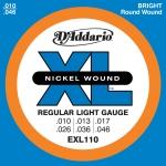 สายกีตาร์ไฟฟ้า D'Addario EXL 110 Regular Light Gauge